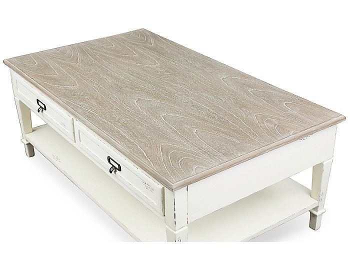 Cannes French Coffee Table, White, , large