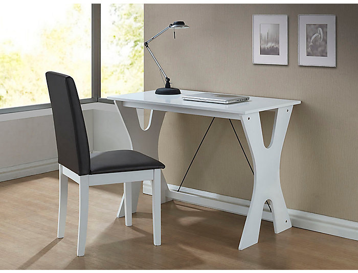 Cay White Desk & Chair Set, , large