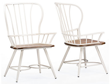 .ongford White Arm Chair Set, , large
