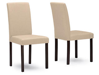 Andrew Beige Chair (Set of 2), , large