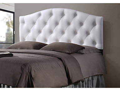 Myra White Full Headboard, , large