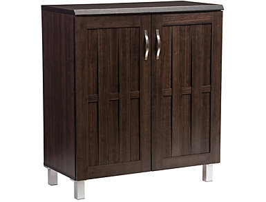 Melrose Dark Brown Storage Cabinet, , large