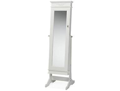 Bimini White Cheval Armoire, , large