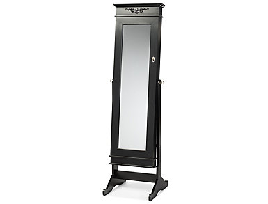 Bimini Black Cheval Armoire, , large