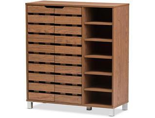 Glenwood Walnut Shoe Cabinet, , large