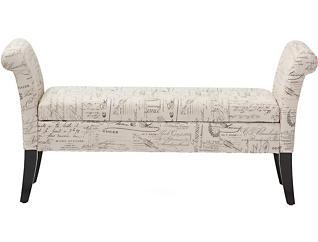 Avignon Script Storage Bench, , large
