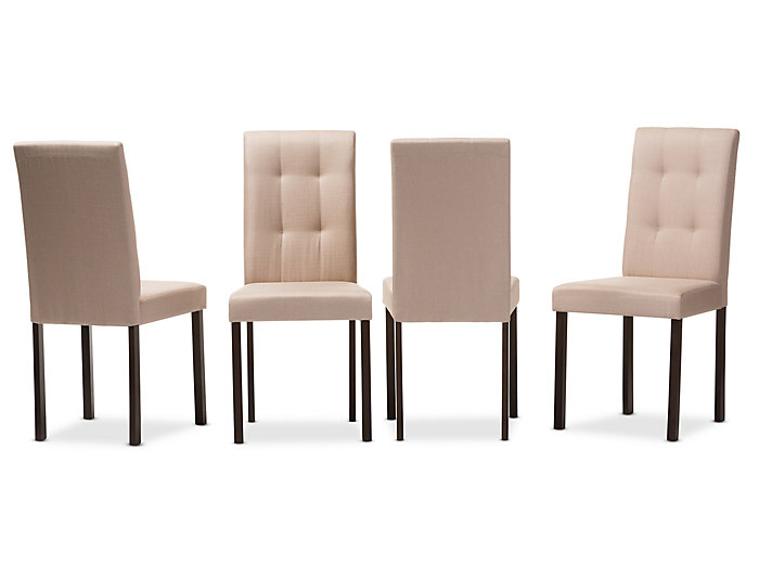 Andrew Beige Chair (Set of 4), , large