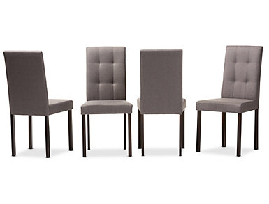 Andrew Grey Chair (Set of 4), , large