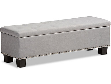 Hannah Bone Storage Bench, , large
