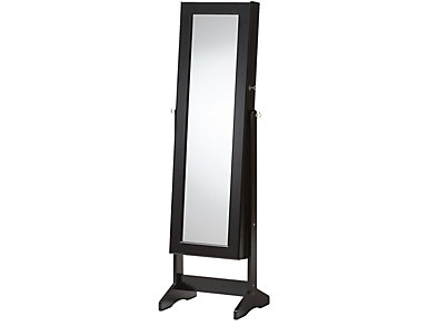 Alena Black Jewelry Armoire, , large