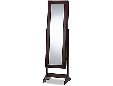 Alena Brown Jewelry Armoire, , large