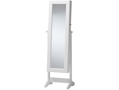 Alena White Jewelry Armoire, , large