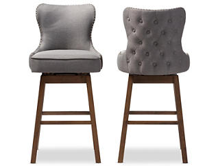 Josie Grey Barstool 2 Piece Set, Grey, large
