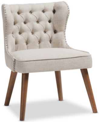 Lille Tufted Chair, Beige, swatch