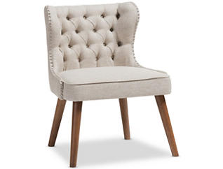 Lille Tufted Chair, Beige, large