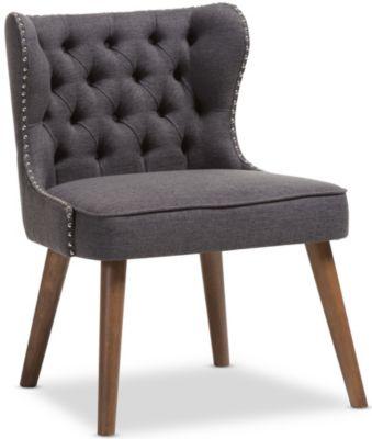 Lille Tufted Chair, Dark Grey, swatch