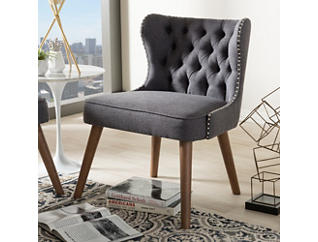 Lille Tufted Chair, Dark Grey, large