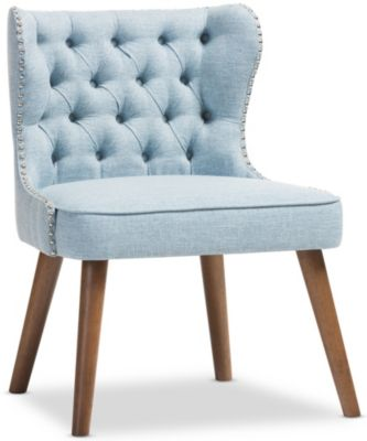 Lille Tufted Chair, Light Blue, swatch
