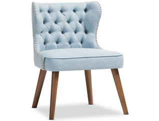 Lille Tufted Chair, Light Blue, large