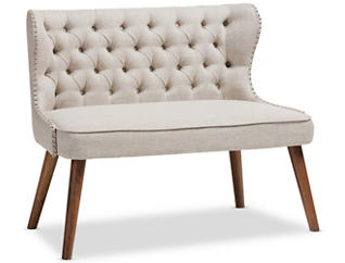 Lille Tufted Loveseat, Beige, large