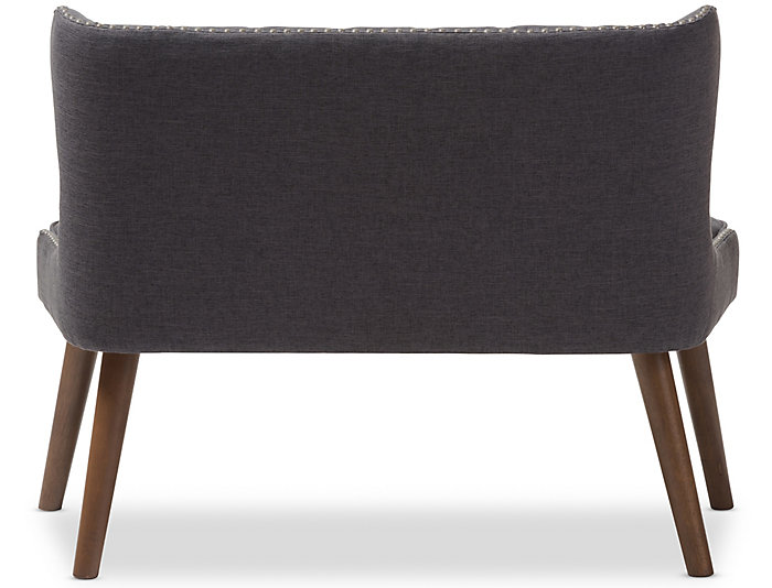 Lille Tufted Loveseat, Grey, Grey, large