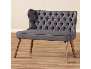 Lille Tufted Loveseat, Grey, large