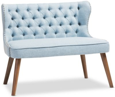 Lille Tufted Loveseat, Blue, swatch