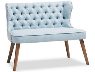 Lille Tufted Loveseat, Blue, large