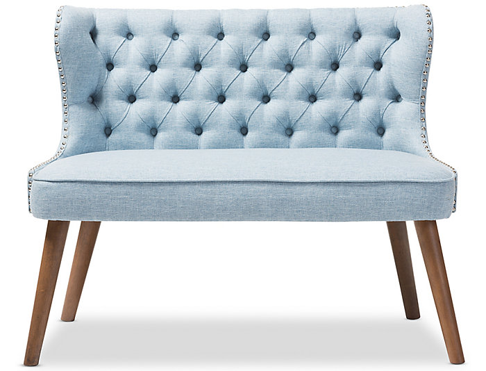 Lille Tufted Loveseat, Blue, Blue, large