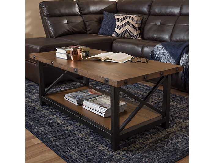 Fulton Distressed Coffee Table, , large