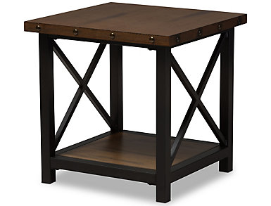 fulton distressed end table brown - Distressed End Tables