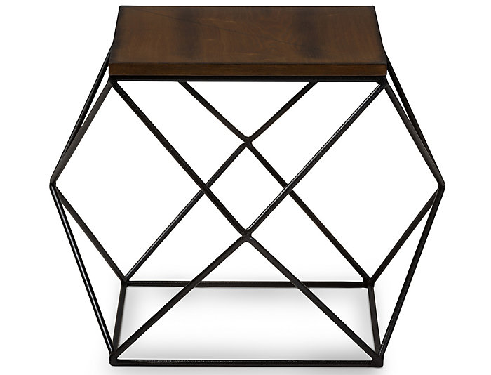 Darby Antique Black End Table, , large