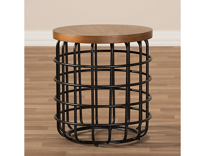 Volta Industrial End Table, , large