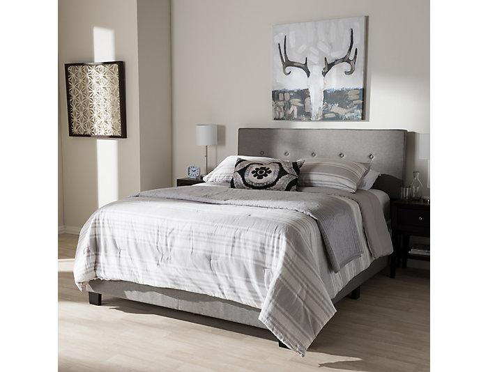 Hampton Light Grey Full Bed, , large