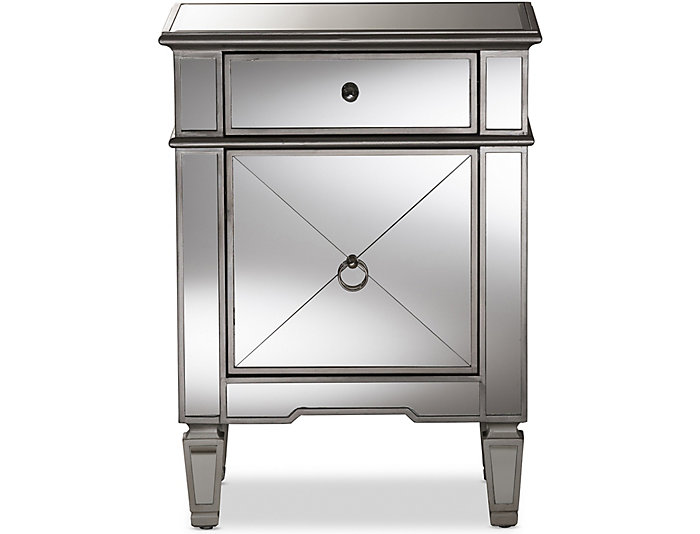 Claudia Mirrored Nightstand, , large