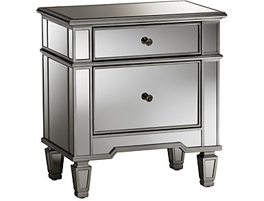 Sussie Mirrored Nightstand, , large