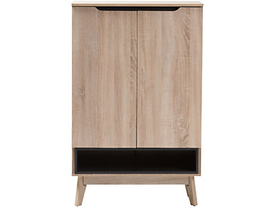Logan Square Light Brown and Gray Shoe Cabinet, , large