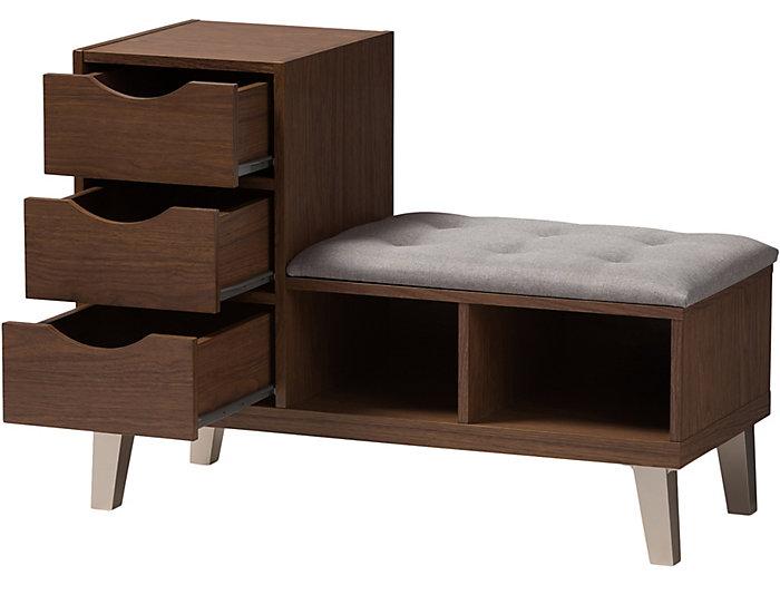 Tremendous Pullman Shoe Storage Bench Art Van Home Andrewgaddart Wooden Chair Designs For Living Room Andrewgaddartcom