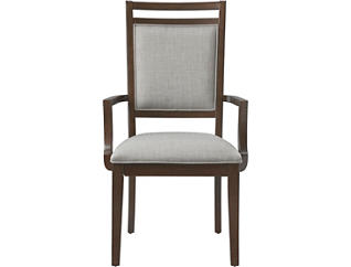 Hartford Walnut Upholstered Arm Chair, , large