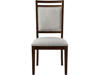 Hartford Walnut Upholstered Side Chair, , large