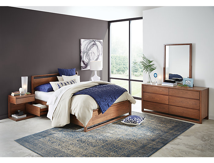Berkley Queen 1 Side Storage Bed, , large