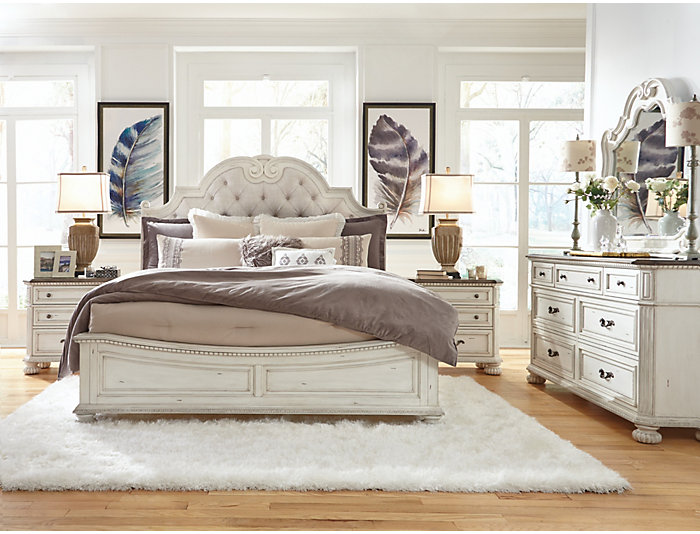 Canfield Queen Upholstered Bed, , large