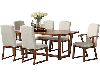 Sydney 7pc Dining Set. Table 4 side chairs and 2 arm chairs, , large
