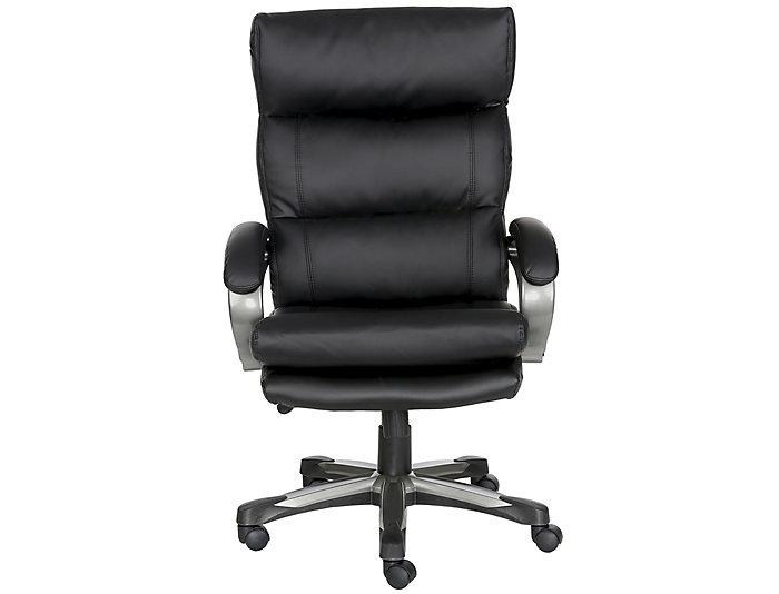 Stupendous Adrian Black Big Tall Desk Chair Beutiful Home Inspiration Aditmahrainfo