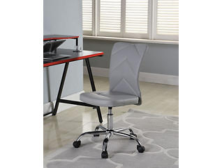 Chevron Grey Desk Chair, , large