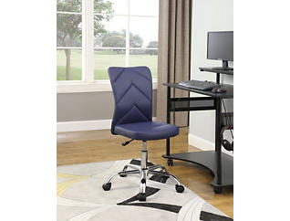 Chevron Navy Desk Chair, , large