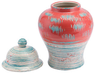 Coralia Ceramic Temple Jar, , large