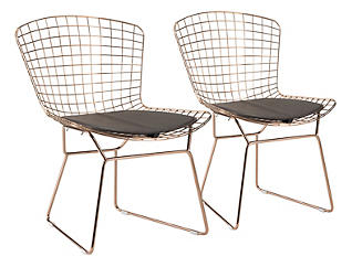 Wire Dining Chairs with Pad, , large