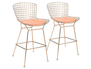 2 Wire Bar Stools with Pad, , large