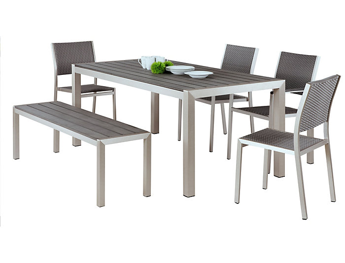 Metropolitan 6pc Dining Set, , large